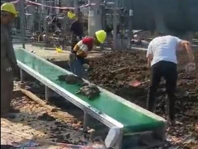 皮带线输送化工泥土